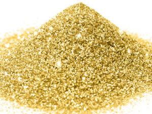 G 02 Glitter esagonale colore oro protetto