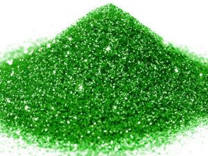G 04 Glitter esagonale colore verde protetto