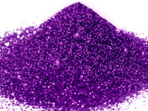 G 07 Glitter esagonale colore viola protetto