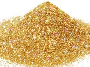 G 10 Glitter esagonale colore oro oleografico protetto