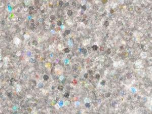 Smalto glitterato argento olografico